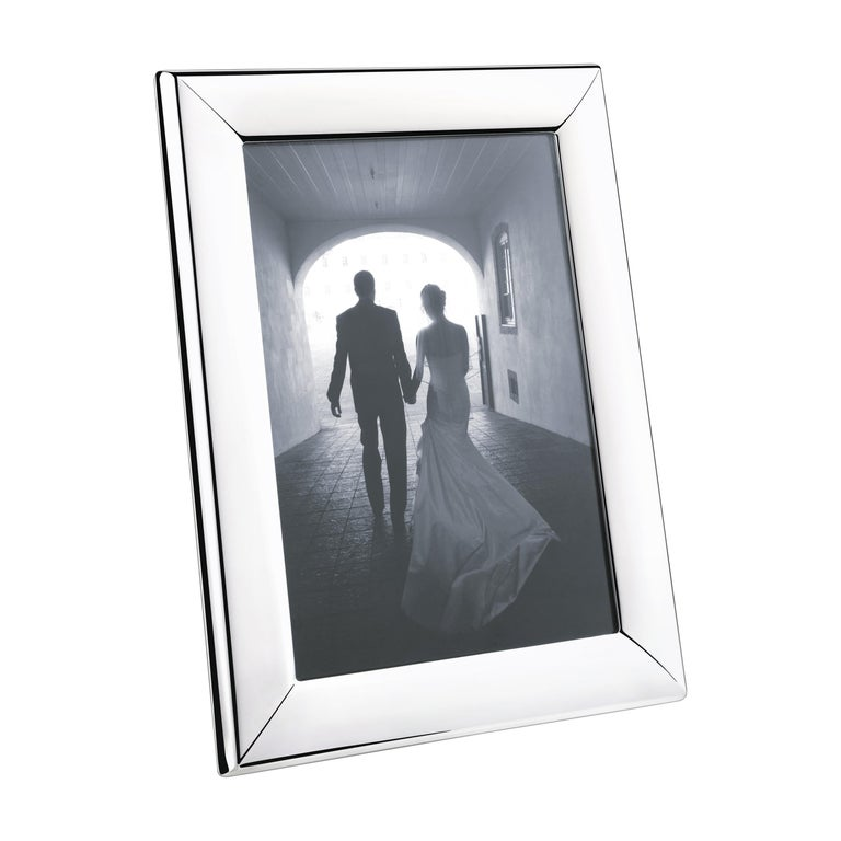 Modern Large Picture Frame in Stainless Steel Mirror Finish by Georg Jensen For Sale