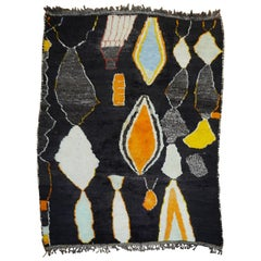 Modern Large Scale Moroccan Early 21st Century Room Size Organic Rug