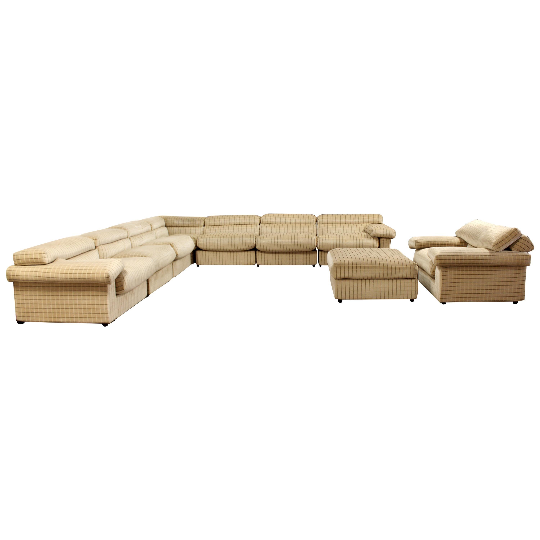 Modern Large Sofa Sectional Erasmo by Tobia Scarpa B&B Italia, 1970s