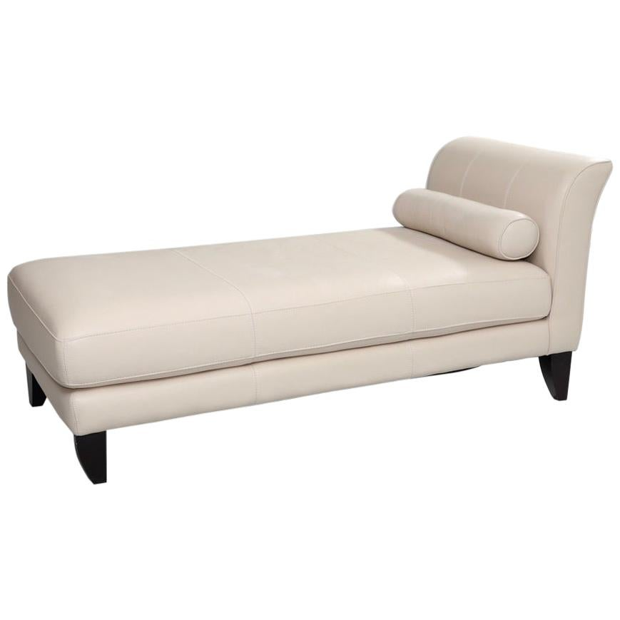 Modern Leather Chaise Lounge