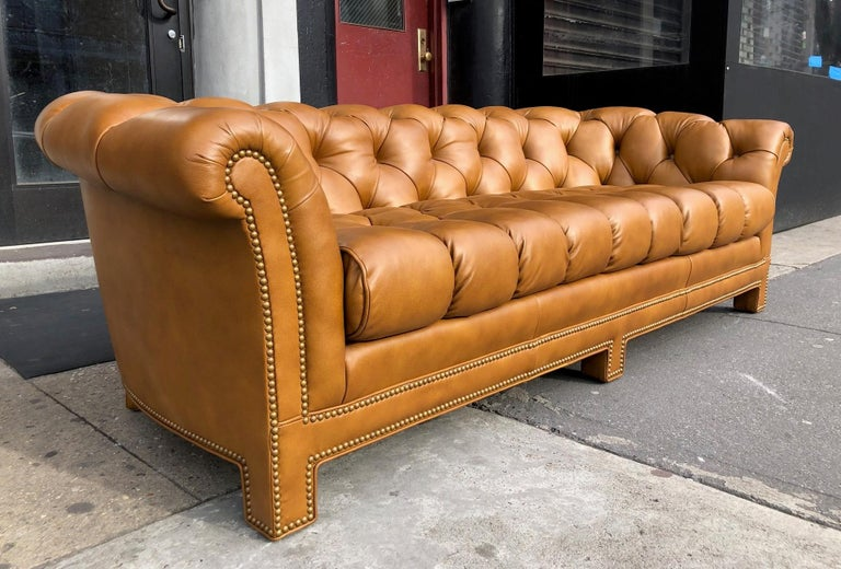 Modern Leather Chesterfield Sofa For Sale at 1stdibs