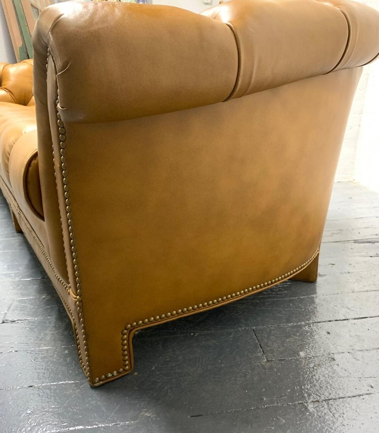 Modern Leather Chesterfield Style Sofa For Sale 1