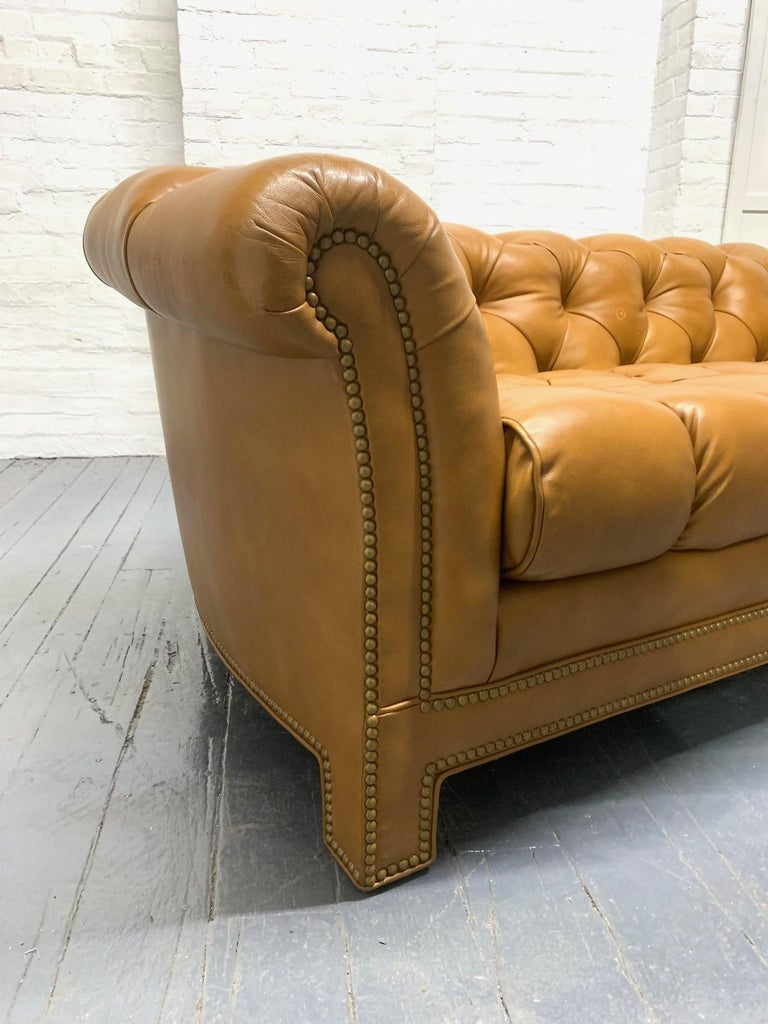 Modern Leather Chesterfield Style Sofa For Sale 2