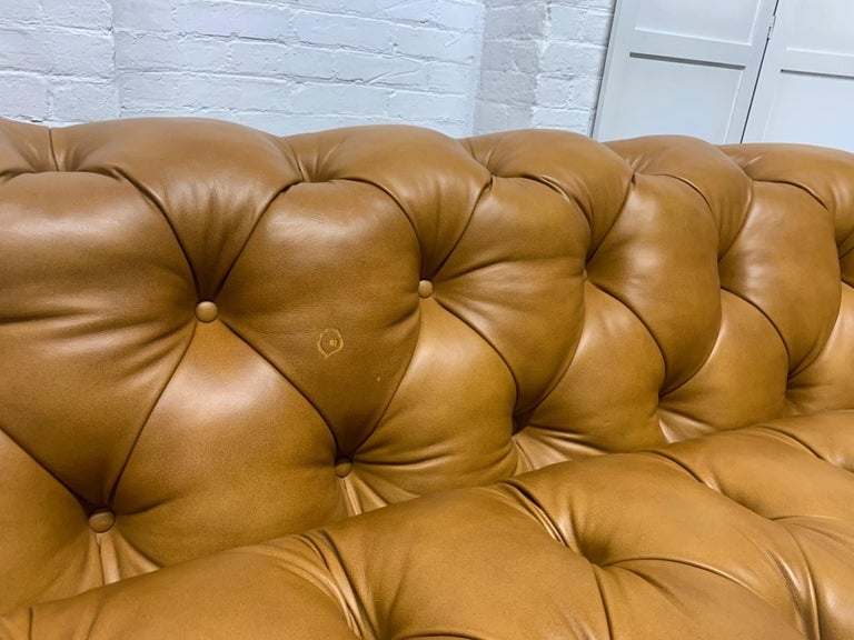 Modern Leather Chesterfield Style Sofa For Sale 3