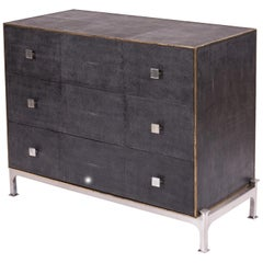 Modern Leather Wrapped Dresser