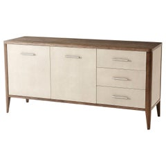Modern Leather Wrapped Sideboard