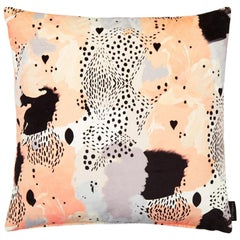 Modern Leopard Print Cotton Velvet Cushion by 17 Patterns