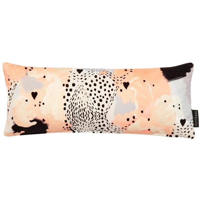 Modern Leopard Print Cotton Velvet Lumbar Cushion by 17 Patterns For Sale