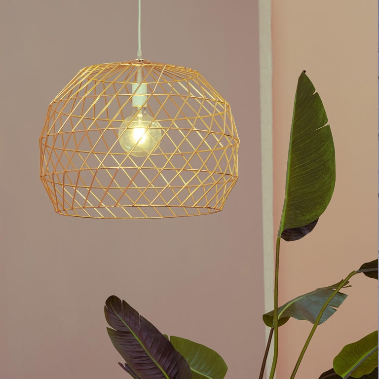 Unknown Modern Light Pendant, the Array Pendant by Bend Goods, Gold For Sale
