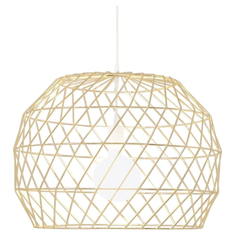 Modern Light Pendant, the Array Pendant by Bend Goods, Gold For Sale