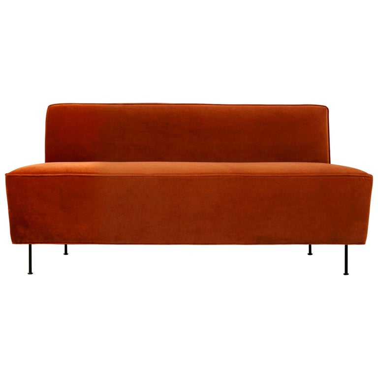 Brilliant Modern Line Sofa Dining Height Small With Brass Legs Alphanode Cool Chair Designs And Ideas Alphanodeonline