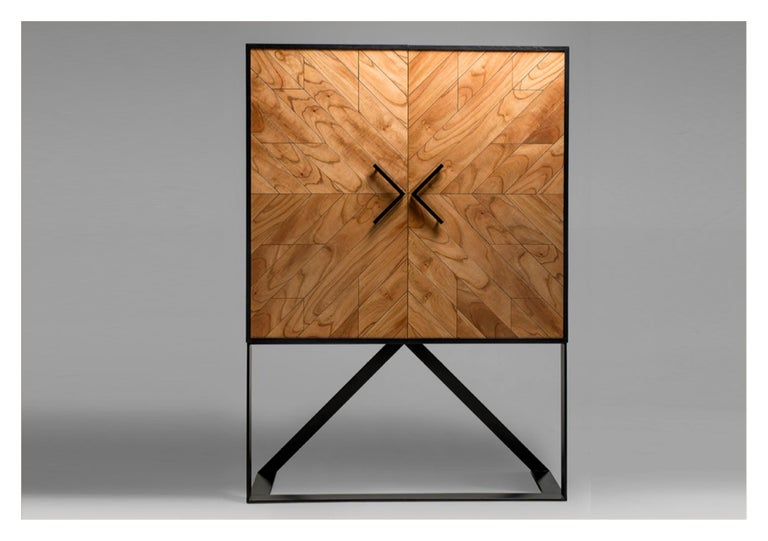 Cabinet designed by Larissa Batista Modern Mahana high sideboard in Cinnamon by Larissa Batista Created by international designer Larissa Batista and handcrafted in Brazil, this contemporary piece is a home decor must-have. Contemplating modern