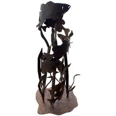 Modern Live Size Iron Fish Sculpture