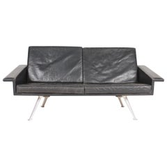 Modern Looking Midcentury Sofa in Patinated Leather, Danish Design, 1960s