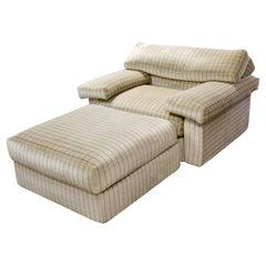 Modern Lounge Chair & Ottoman Set Erasmo Tobia Scarpa B&B Italia 1970s