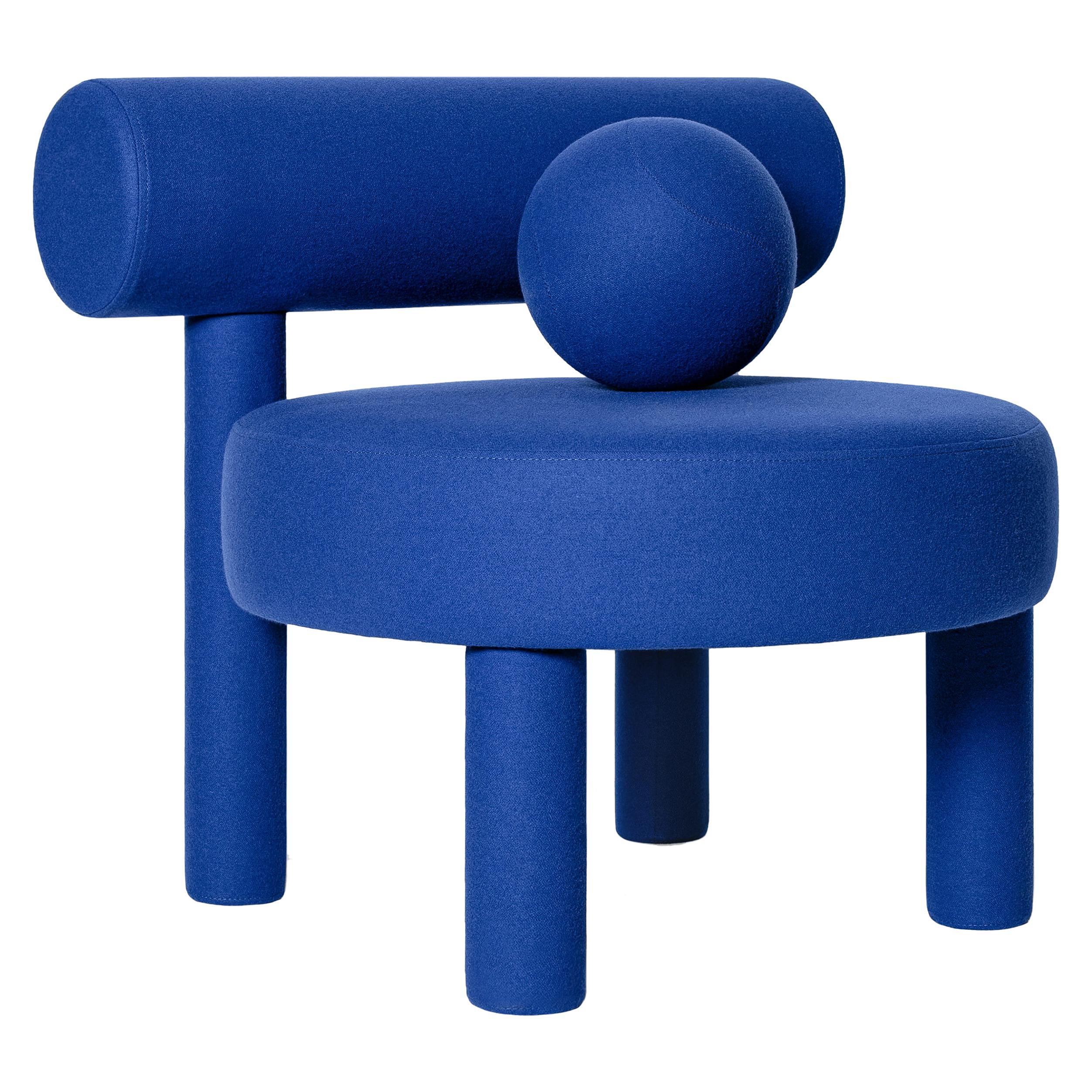 Modern Low Chair Gropius CS1 in Fire Retardant Wool fabric by NOOM