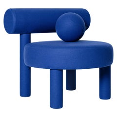 Modern Low Chair Gropius CS1 in Fire Retardant Wool fabric by NOOM