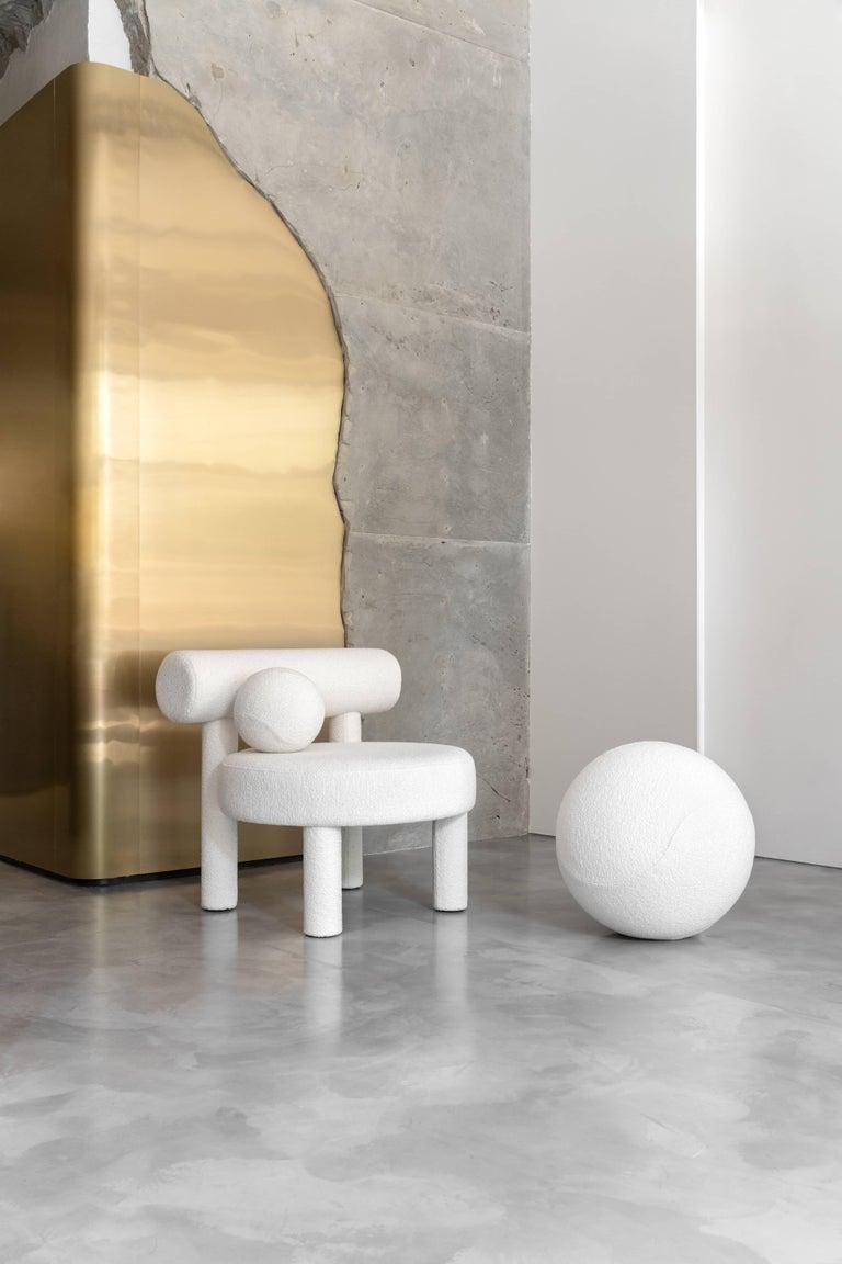 Ukrainian Modern Low Chair Gropius CS1 in Fire Retardant Wool fabric by NOOM For Sale