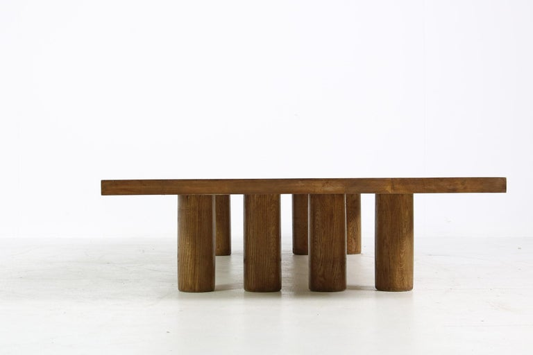 German Modern Low Coffee Table Solid Oak, Nathan Lindberg Bench, Daybed, Pedestal E For Sale