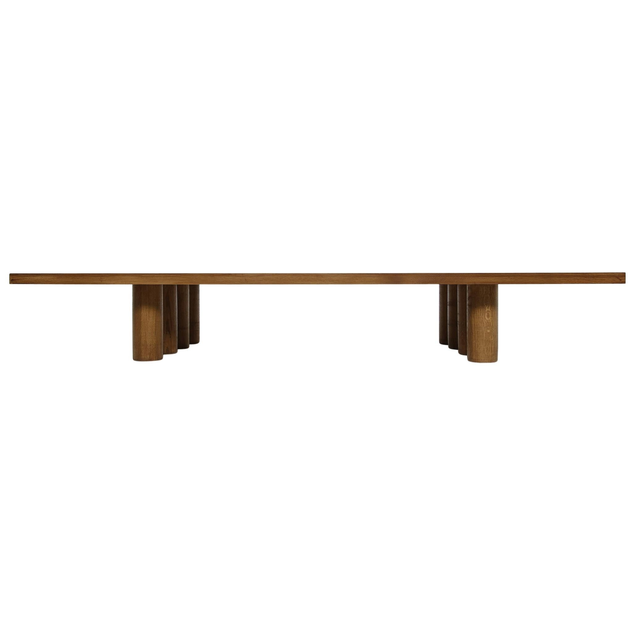 Modern Low Coffee Table Solid Oak, Nathan Lindberg Bench, Daybed, Pedestal E