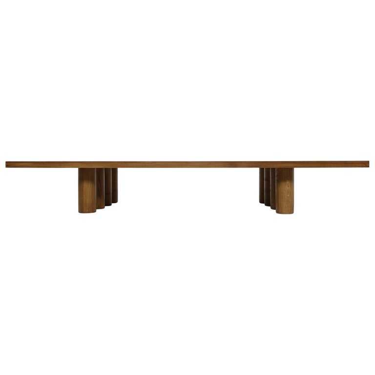 Modern Low Coffee Table Solid Oak, Nathan Lindberg Bench, Daybed, Pedestal E For Sale