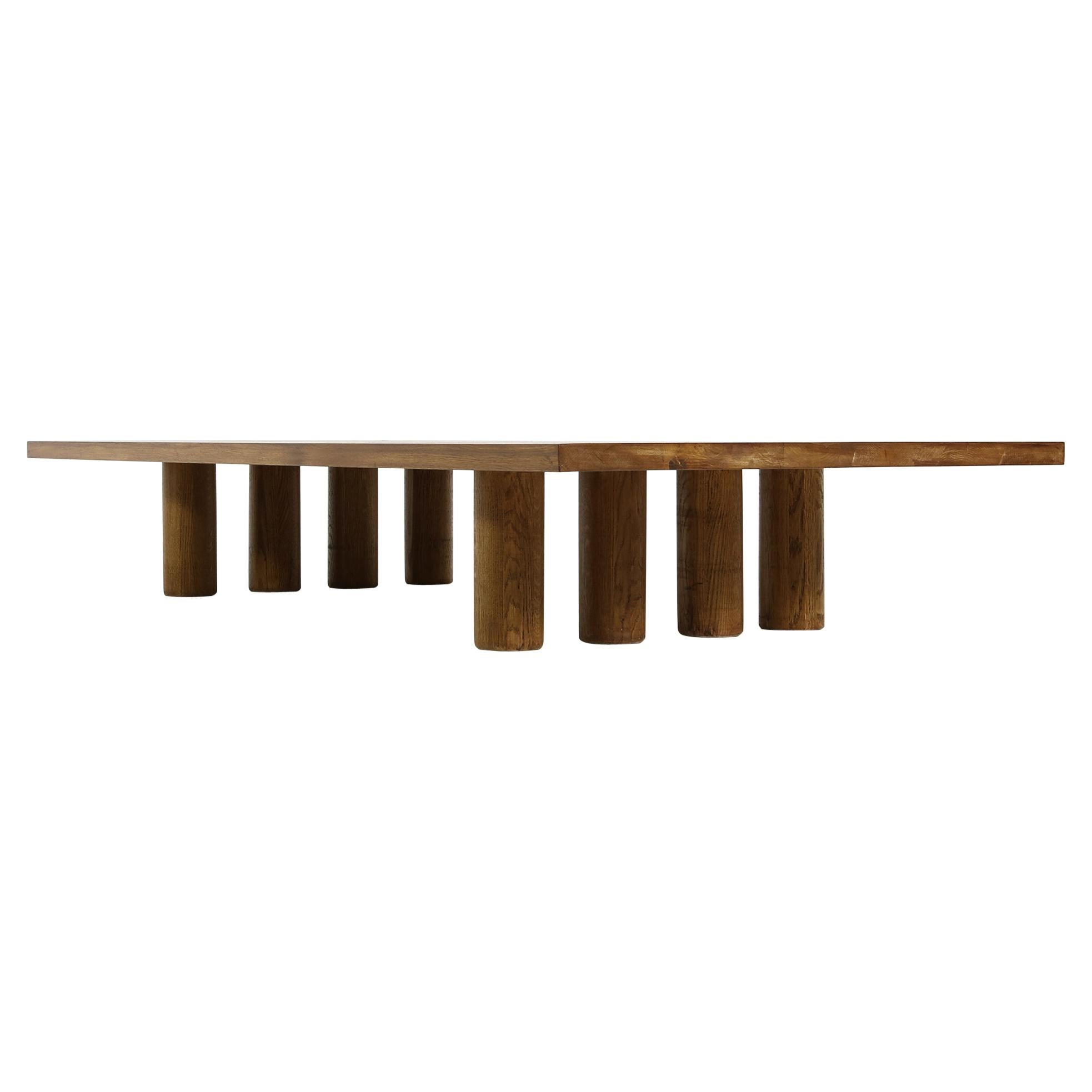 Modern Low Coffee Table Solid Oak, Nathan Lindberg, Bench or Daybed