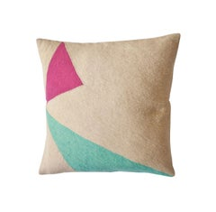 Modern Lucent Shadow Hand Embroidered Geometric Throw Pillow Cover