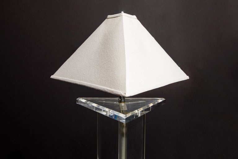 Modern Lucite Floor Lamp by Marlee, circa 1970s, Signed For Sale 11