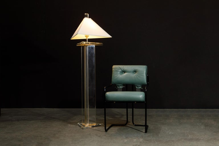 Modern Lucite Floor Lamp by Marlee, circa 1970s, Signed For Sale 2
