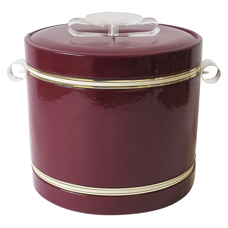 Lucite Ice Bucket or Wine Cooler, ca. 1970s