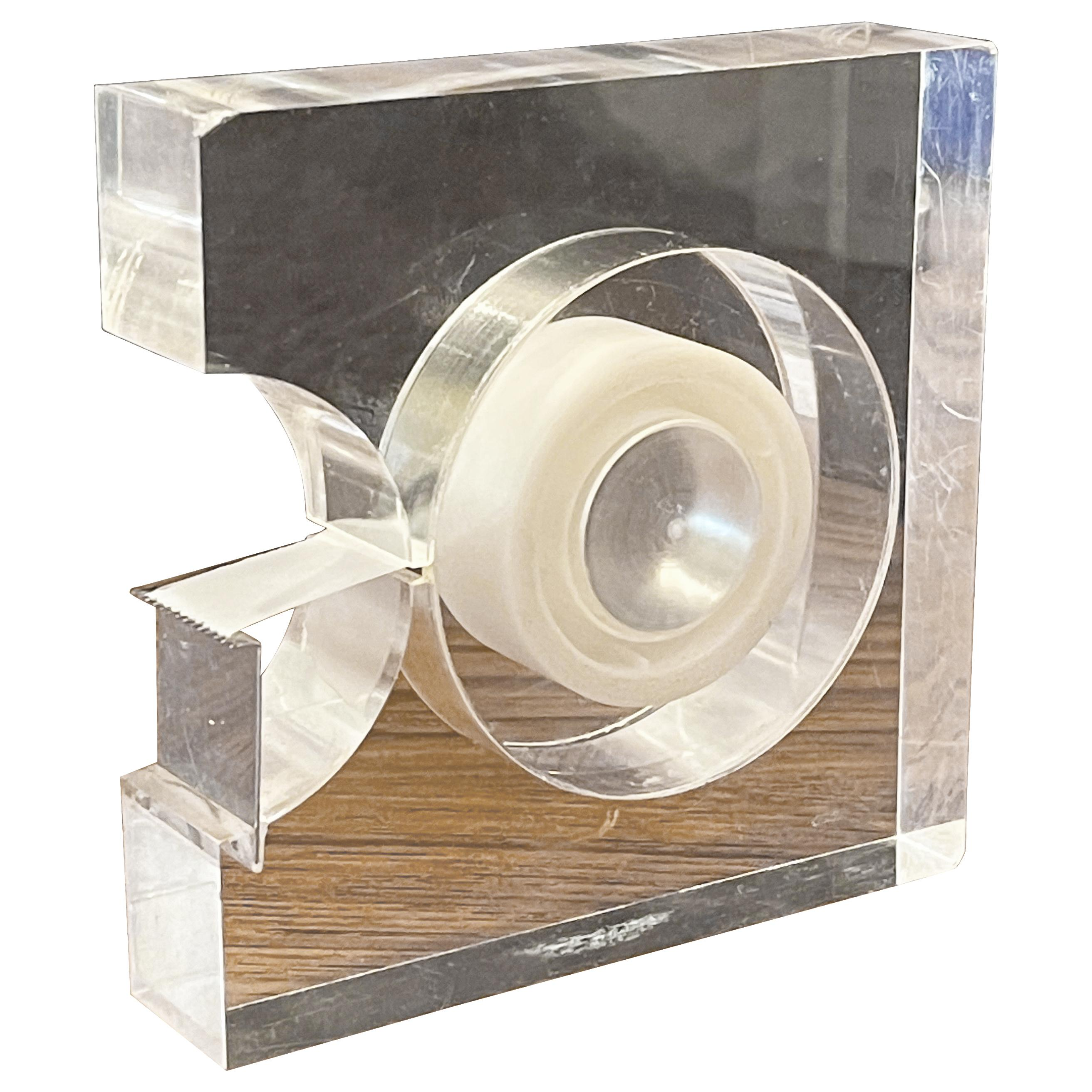 Modern Lucite Tape Dispenser by Two's Company, Design Study Collection MoMA
