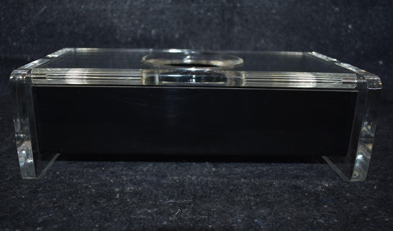American Modern Lucite Tissue Box For Sale