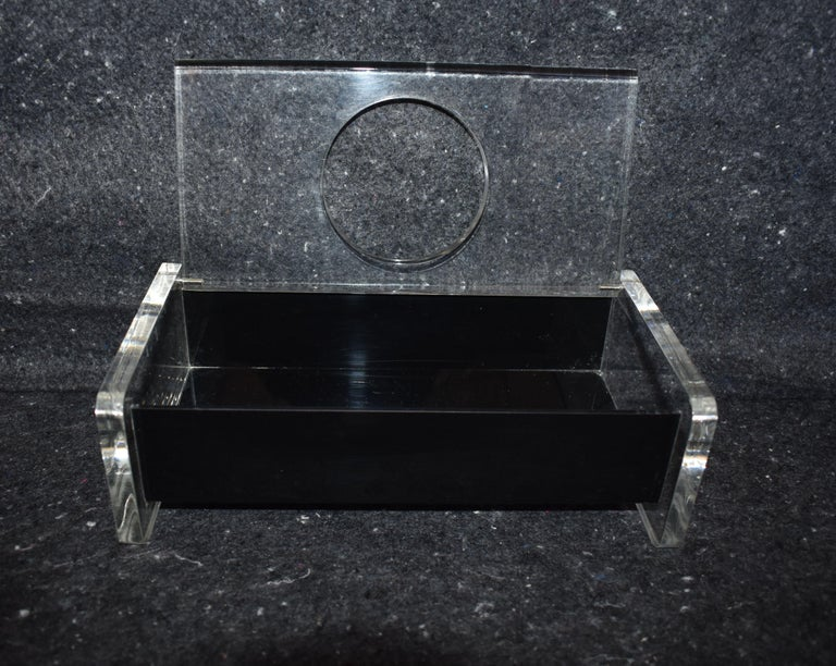 Modern Lucite Tissue Box For Sale 1