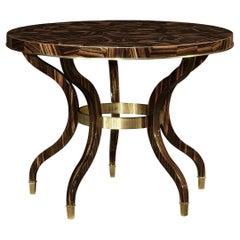 Modern Macassar Center Table