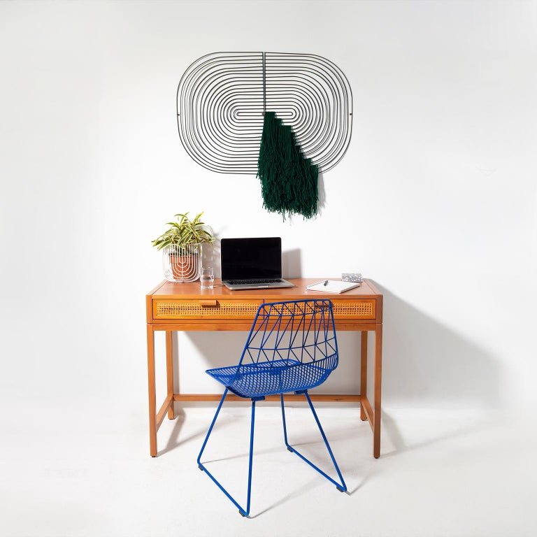 Modern Macrame Art, Wire Macrame Art Piece by Bend Goods, Deep Green In New Condition For Sale In Los Angeles, CA