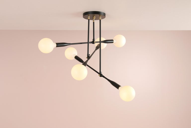 Mid-Century Modern Modern Made to Order Thia Trio Light by Studio Dunn For Sale