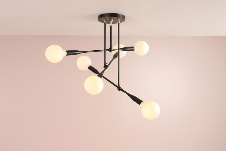 American Modern Made to Order Thia Trio Light by Studio Dunn For Sale