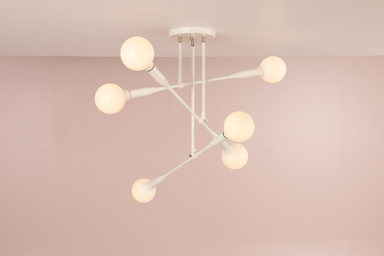 Powder-Coated Modern Made to Order Thia Trio Light by Studio Dunn For Sale
