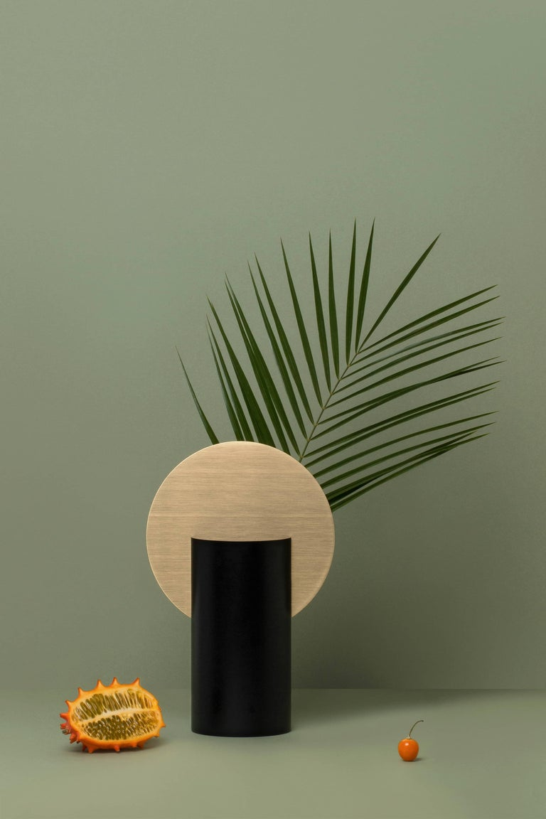 Ukrainian Modern Malevich Vase CS2 by Noom in Brass and Painted Steel For Sale