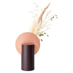 Modern Malevich Vase CS7 by Noom in Copper and Painted Steel