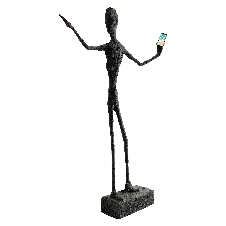 """""""Modern Man"""" Life-Size Bronze Sculpture"""