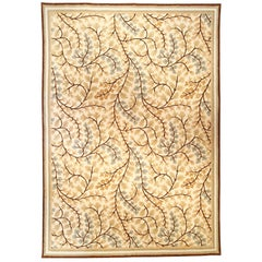 Modern Maple Design Brown, Yellow, Green and Blue Rug