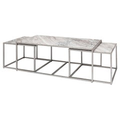 Modern Marble 3 Piece Coffee Table