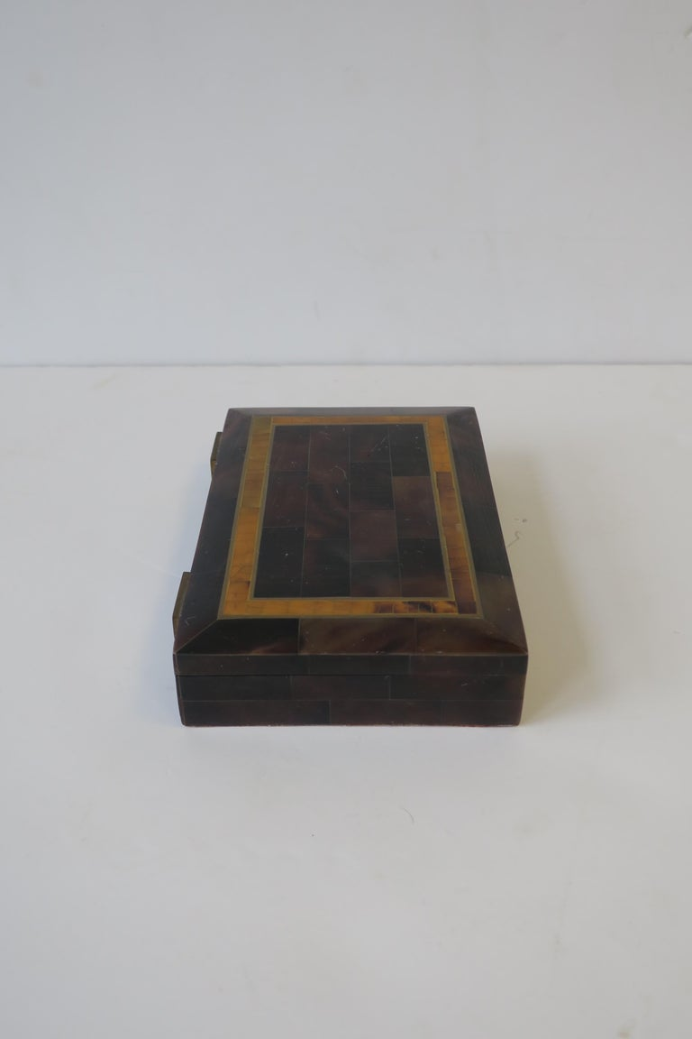 Modern Marble and Brass Jewelry Box For Sale 7
