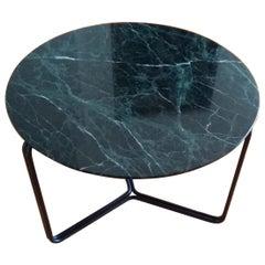 Modern Marble Coffee or Side Table Metal Base in Black