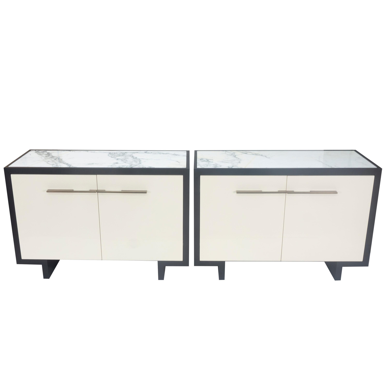 Modern Marble-Top Cabinet, Custom