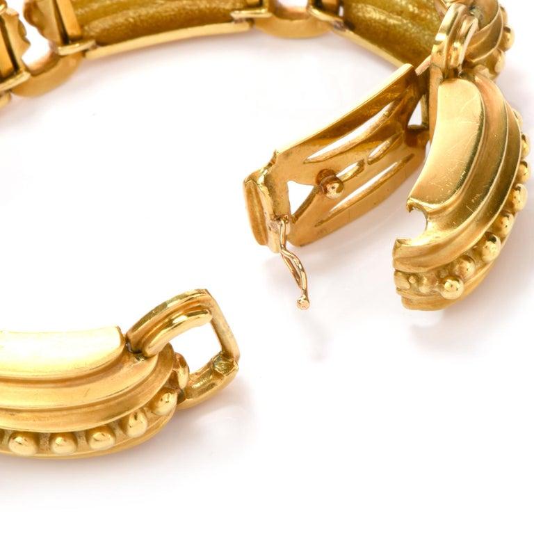 Modern Marlene Stowe 18 Karat Gold Nautical Link Bracelet In Excellent Condition For Sale In Miami, FL