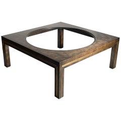 Modern Mastercraft Burl Coffee Table