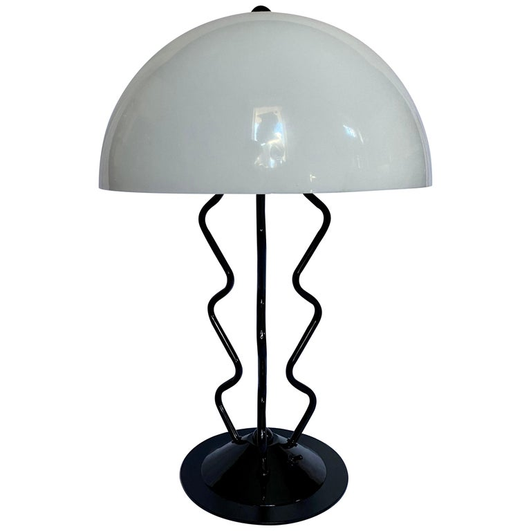 Modern Memphis Style Sculptural Dome Table Lamp For Sale