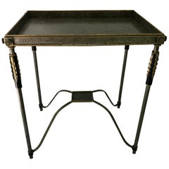 Modern Metal and Gilt-Metal Table